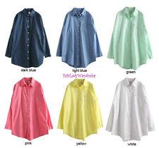 Japan Relaxed BoyFriend Pocket Button Down Tunic Shirt! FREE US SHIPPING