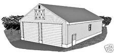 32 x 48 Two Bay FG / RV Garage /15 ft Ceiling & Rear Door Garage Building Plans