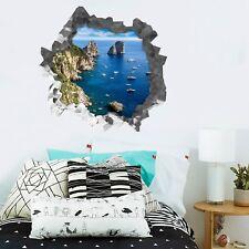 3D Mare Tropicali Barche 224 Parete Murales Parete Adesivi Decal Sfondamento IT