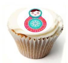 Muñecas rusas Cumpleaños Cupcake Toppers Papel de Arroz x20 o Glaseado, Personal. 952