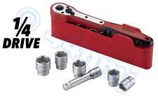 TENG Handy Box Socket Set 1/4 Drive Ratchet Sockets & Extension Bar No. M1413n1