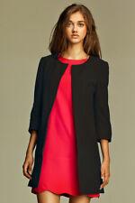 Veste noire longue de costume femme tailleur Z04 Nife 36 38 40 42 44
