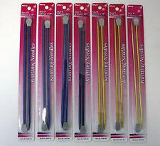 """Polished Aluminum 10"""" Knitting Needles Size: 4 5 6 7 8 9 10 Nip Knit Pairs"""