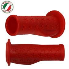 COPPIA MANOPOLE FLESSIBILE BICI PER BAMBINI ROSSO 90mm 22.2mm TRICICLO COMODO