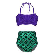Kinder Mädchen Tankini Bikini Sets Meerjungfrau Badeanzug Schwimmanzug Beachwear