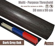 Dark Grey Laminated Door Threshold 38mm x 90cm Multi-Height/Pivots Multi-Purpose