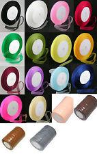 50 Yard Roll Sheer Organza Ribbon - 12mm Wide - Choose Colour - - UK Seller