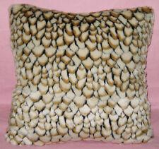fp841a Black Light Brown Almond Stone Soft Faux Fur Cushion Cover/Pillow Case