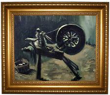 van Gogh Bobbin winder 1885 Framed Canvas Print Repro 16x20