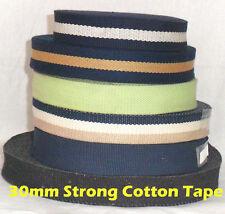 30mm Strong Color Cotton Webbing Belting Bag Straping Trim Handle Upholestry