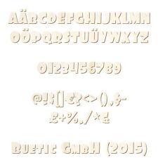 Holz Buchstaben, Zahlen und Sonerzeichen - Foo