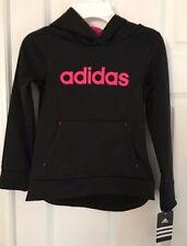 ADIDAS NWT Girls Top Shirt Sweatshirt Hoodie Pullover Black Pink 4 5 6