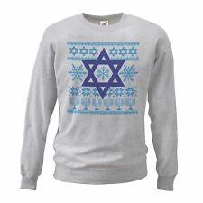 Adults Jewish Nordic Sweatshirt The Night Before Hanukkah Christmas X-Mas Jumper