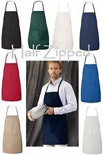 Liberty Bags 2 Pocket Long Butcher Block Apron 5505 24 x 28 8 Colors NEW!