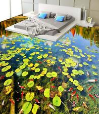 3D Duckweed River Fish 7588 Floor WallPaper Murals Wall Print Decal 5D AU Lemon