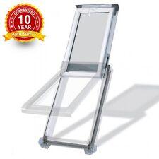 PVC White Top Hung Escape Access Roof Windows 55cm x 78cm + Flashing-Rooflight