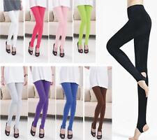 Women`s STIRRUP LEGGINGS  S-XXL Au Size 8-20 Black White Grey Purple Pink