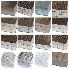 Extrem starke Neodym Quader Block Magnete eckig Größe und Anzahl wählbar N45 N52