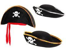 Piratenhut für Kinder Seeräuber Totenkopf Piratenparty Kostüm Hut Pirat Karneval