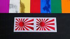 Rising Sun Coloured Chromes Vinyl Die Cut Car Window Bumper Stickers Decals JDM