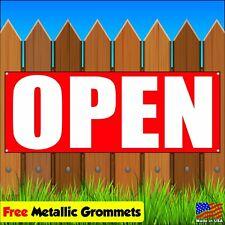 Open Vinyl Banner Flag Sign Advertising w/ grommets new store opening