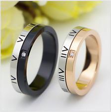 Best Love gift Titanium Steel black&gold Roman numerals ring love couple rings