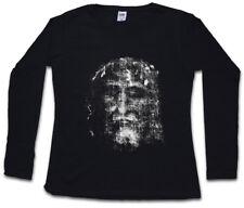 Shroud of Turin Femmes Manches Longues T-shirt Chiffon Holy Jésus-Christ Chrétiens Maria entrepria