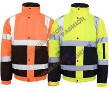 HI Viz Vis Impermeabile Sicurezza Workwear Cappotto due toni Riflettente BOMER Giacca 8-20