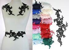 2 x Floral lace Applique / decorative sewing lace motifs 11 different colours #1