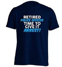 Retired police officer, t-shirt retirement gift retiring ex cop policeman 4852