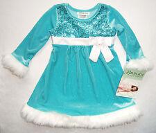 Festtagskleid türkis NEU Gr. 92-110 Schleife Kleid Weihnachtskleid Blumenmädchen