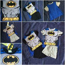 Boys Official DC Comics Batman Pyjamas Cape PJ Nightwear Superhero Shorts