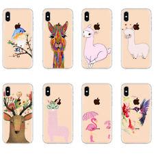 Lama Flamingo Deer Birds Animal covers cases iPhone 7 8 Plus X  XS Max XR
