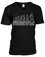 Evolution Of Man Ape To Baseball Player Swinging Bat Mens V-neck T-shirt