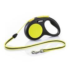 Flexi Neon Reflective Retractable Cord Lead Leash Night Walk for Dog Puppy