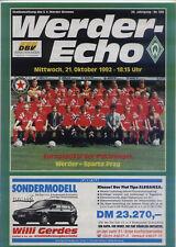 CWC - EC II 92/93 SV Werder Bremen - Sparta Prag