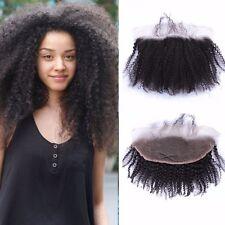"13x4"" Brazilian Virgin Human Afro kinky curly Lace Frontal Closure Ear to Ear"