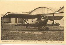 CARTE POSTALE AVIATION AERODROME DE BOURGET DUGNY / BREGUET 19 A 2 TYPE RAID