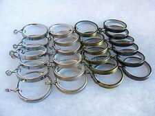 6 Metallo tenda asta anelli Diametro Interno 35mm Fodera Nylon