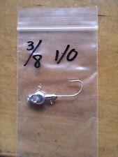 25 3/8oz Minnow Head Jigs on Eagle Claw 635 Saltwater hooks  1/0  2/0  or  3/0