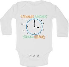 Mondi Più Simpatico Sveglia Personalizzati Manica Lunga Bambino Body Body Unisex