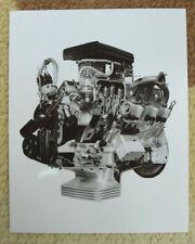 Fiat 8V cut-a-way engine photo; 1952/3 press release