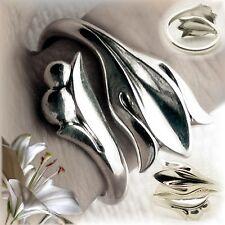VINTAGE AVON!  STERLING LILY (tulip) FLOWER RING - GODDESS HERA
