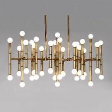European LED iron bamboo Chandelier Ceiling Light Living Room Lobby Pendant lamp