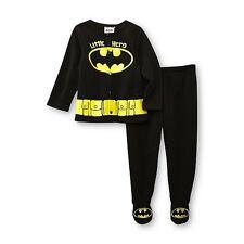 DC Comics Batman Newborn Boy's Fleece Jacket & Footed Pants SIZE 0-3M, 3-6M, 6-9