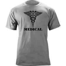 US Army Medical Branch Insignia Caduceus Veteran Graphic T-Shirt