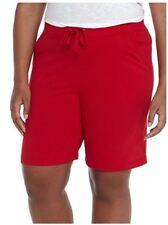 Women's Kim Rogers Women's Solid Bermuda Stretch Short Red