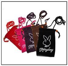Rare Velvet Playboy pouch, phone case, sock wallet strap Unisex Bag