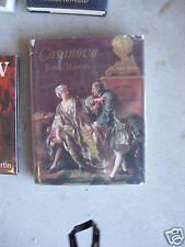 1969 Book Casanova by John Masters w/ DJ