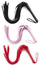 Bondage Leather roleplay Whip Flogger Handle Tassels BDSM  Leather Interest Toys